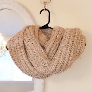 Maurices Accessories - Maurices Cream & Gold Knit Chunky Infinity Scarf